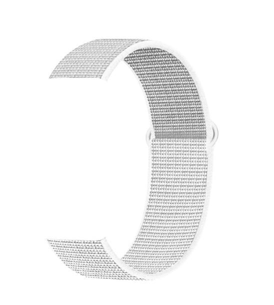 Тканевый ремешок (Липучка) для Xiaomi Amazfit Bip 20мм ( Белый )
