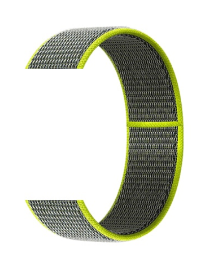 Тканевый ремешок (Липучка) для Xiaomi Amazfit Bip 20мм ( Темно-зеленый )