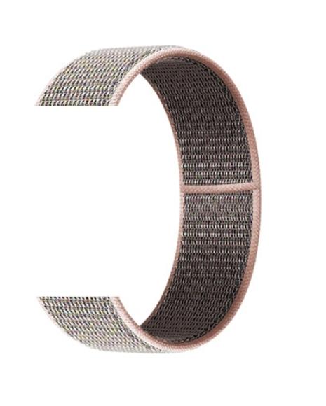 Тканевый ремешок (Липучка) для Xiaomi Amazfit Bip 20мм ( Темно-розовый )