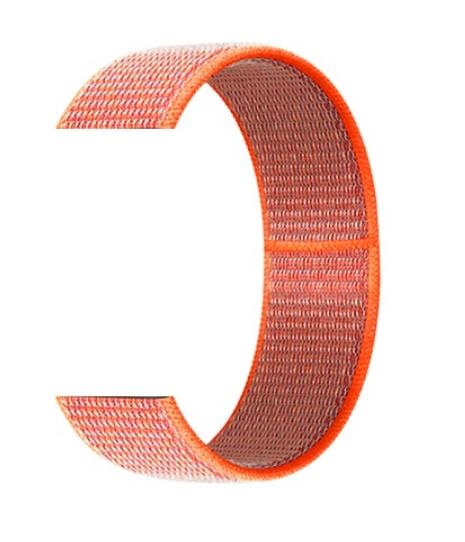 Тканевый ремешок (Липучка) для Xiaomi Amazfit Bip 20мм ( Оранжевый )