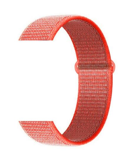 Тканевый ремешок (Липучка) для Xiaomi Amazfit Bip 20мм ( Темно-оранжевый )