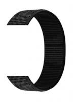 Тканевый ремешок (Липучка) для Xiaomi Amazfit Bip 20мм ( Черный  )