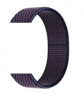 Тканевый ремешок (Липучка) для Xiaomi Amazfit Bip 20мм ( Темно-синий с синей строчкой )