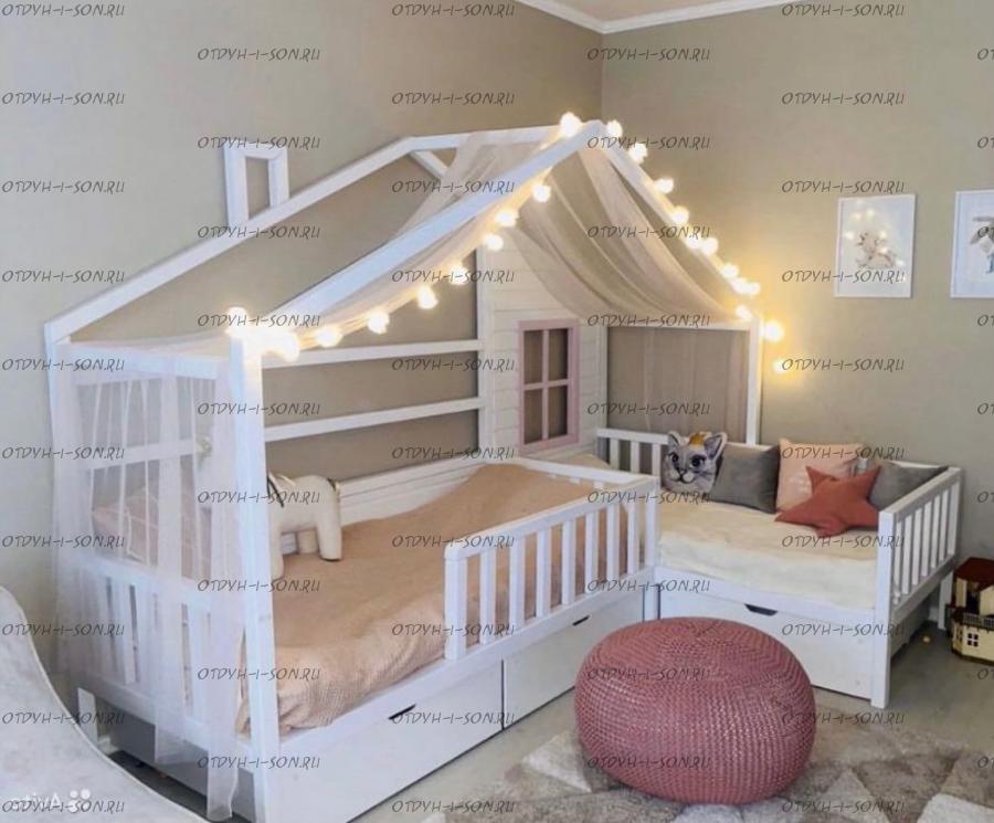 Кровать Домик угловой Fairy Land №18А (для двоих детей)