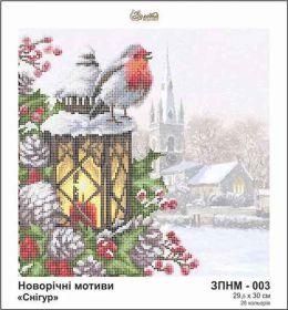 Золотая Подкова ЗПНМ-003 Снегирь схема для вышивки бисером купить оптом в магазине Золотая Игла
