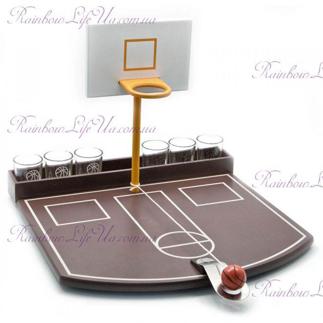 Баскетбол с 6 рюмками