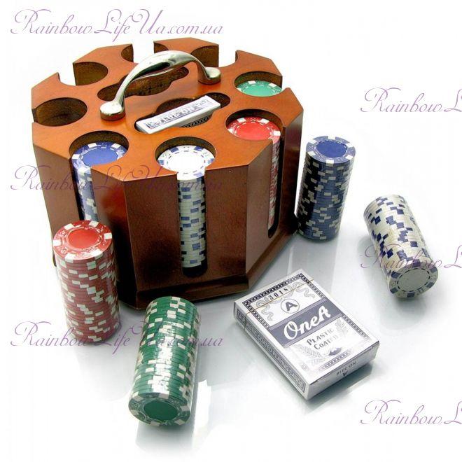 Покерный набор на 200 фишек и 2 колоды
