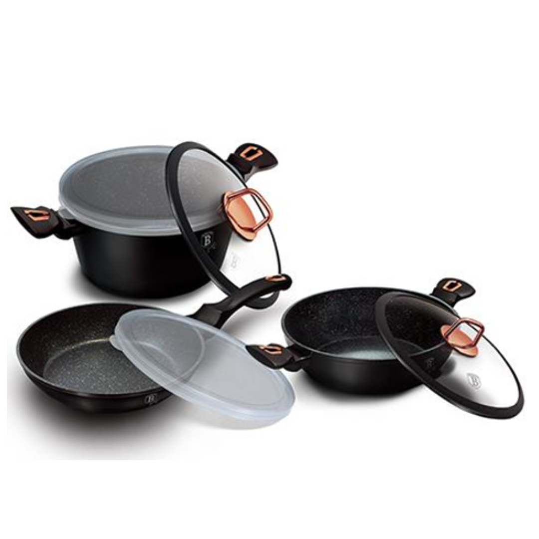 Набор посуды 7  пр. Berlinger Haus ВН-6791 Black Rose