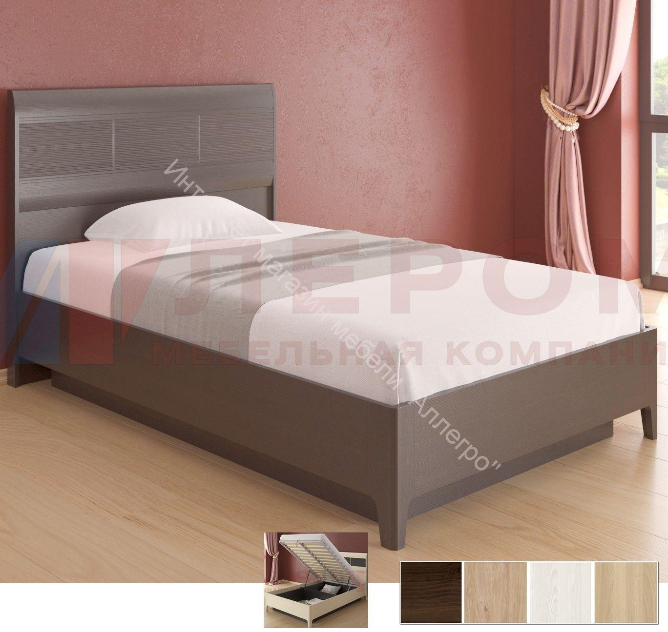 Кровать КР-1861 (1,2Х2,0) с П/Мех и жестким изголовьем Мелисса