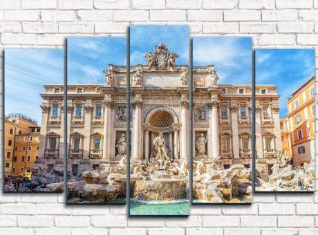 Модульная картина Фонтан Треви в Риме