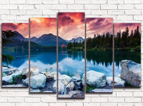 Модульная картина Каменное озеро