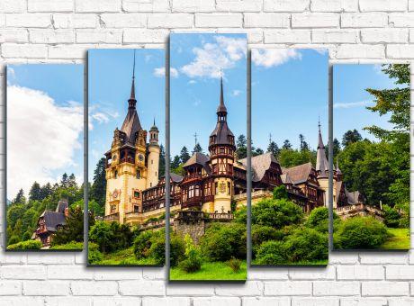 Модульная картина Замок в Румынии