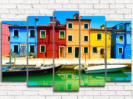 Модульная картина Венеция. Бурано