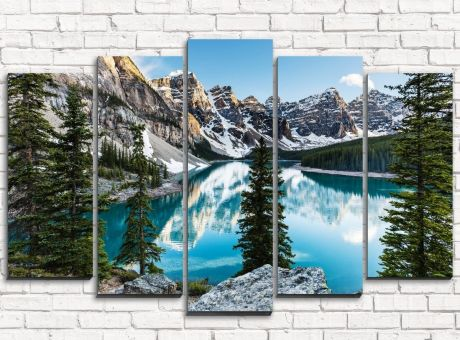 Модульная картина Горное озеро