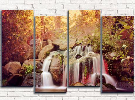 Модульная картина Тропический водопад