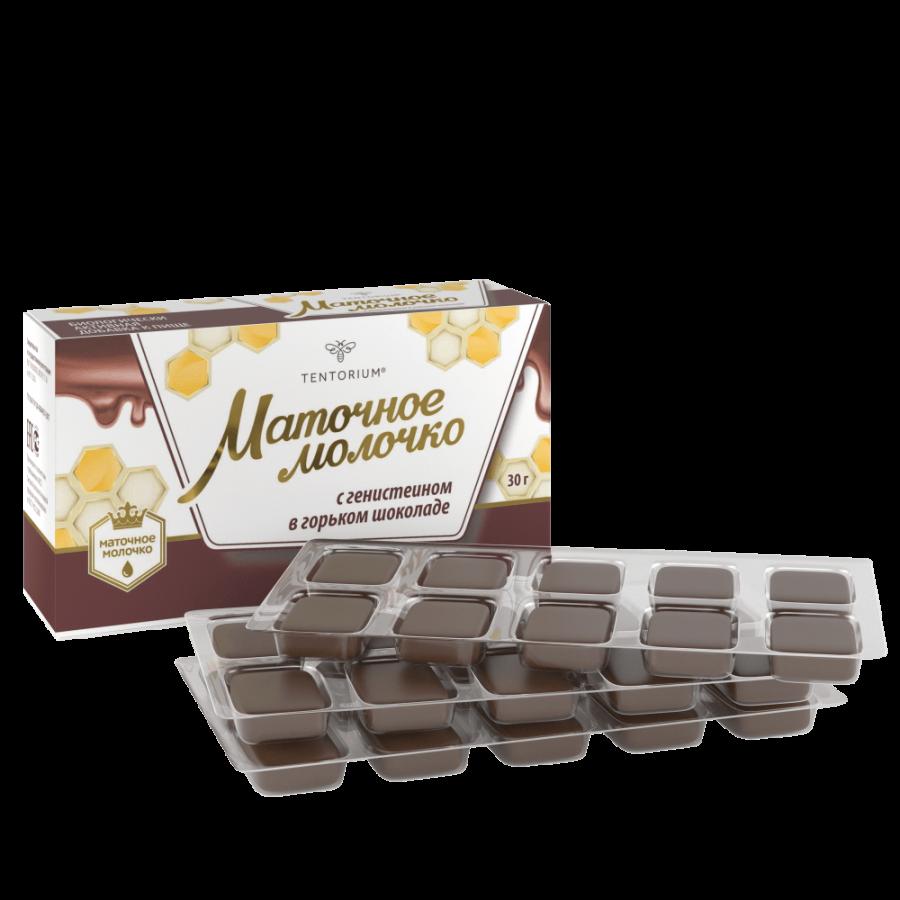 БАД «Маточное молочко с генистеином в горьком шоколаде», 10 шт