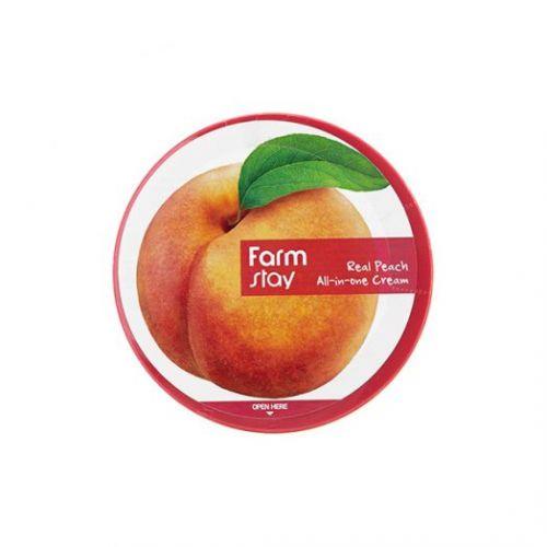 301006 FarmStay Многофункциональный крем с экстрактом персика Real Peach All-in-one Cream