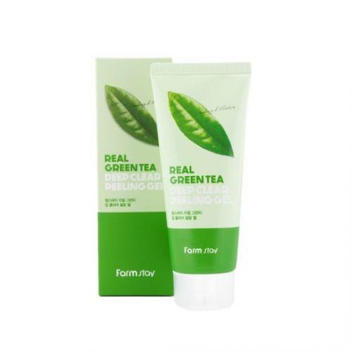 959389 FarmStay Отшелушивающий гель с экстрактом зеленого чая Real Green Tea Deep Clear Peeling Gel