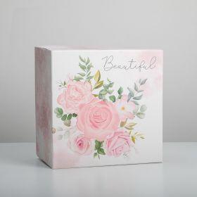 Коробка для торта «Цветочная» 30 х 30 х 19 см