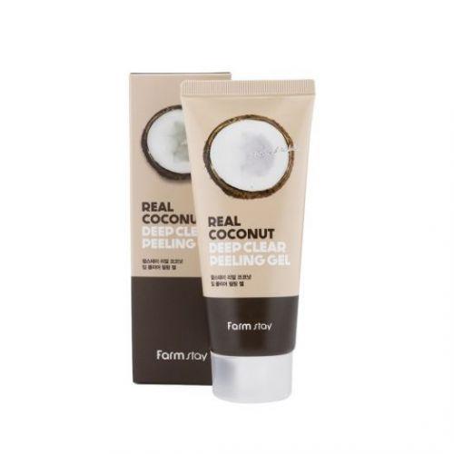 959365 FarmStay Отшелушивающий гель с экстрактом кокоса Real Coconut Deep Clear Peeling Gel