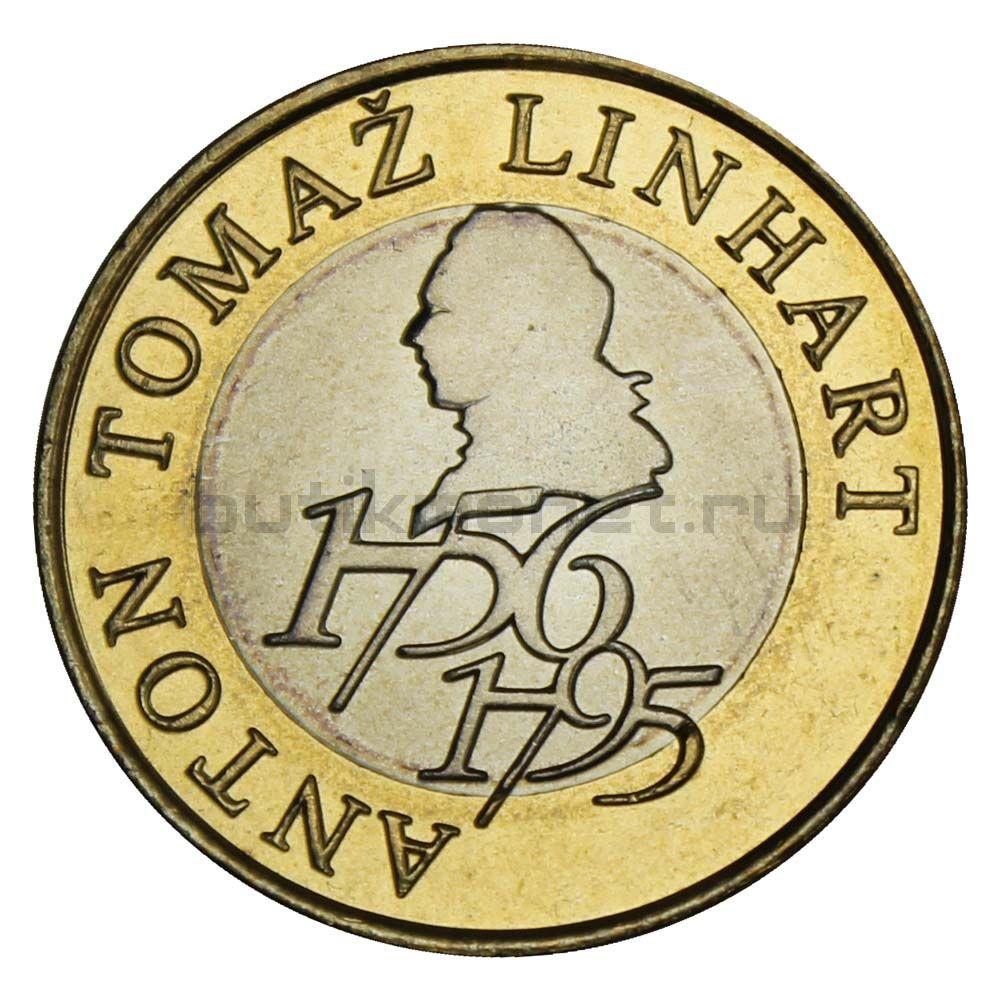 500 толаров 2006 Словения 250 лет со дня рождения Антона Томажа Линхарта