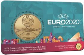 Чемпионат Европы по футболу 2,5 евро Бельгия  2021 блистер  BU