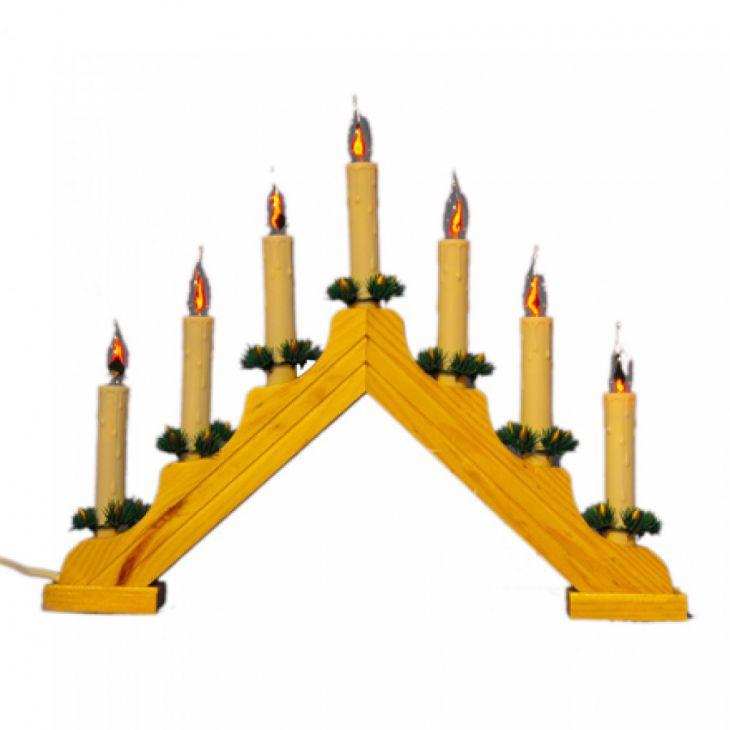 Рождественская горка 7 Candle Arch Wooden