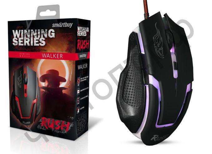 Мышь провод. игров. Smartbuy RUSH Walker черная (SBM-722G-K)