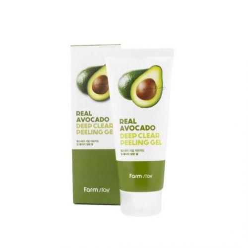 959372 FarmStay Отшелушивающий гель с экстрактом авокадо Real Avocado Deep Clear Peeling Gel