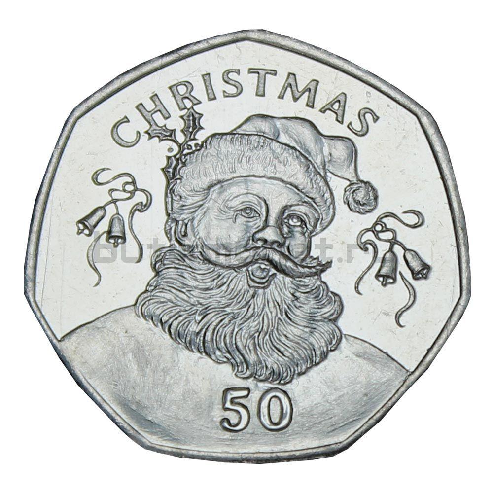 50 пенсов 2017 Гибралтар Рождество