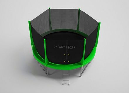 Батут Optifit Jump 6FT (синий, зеленый)