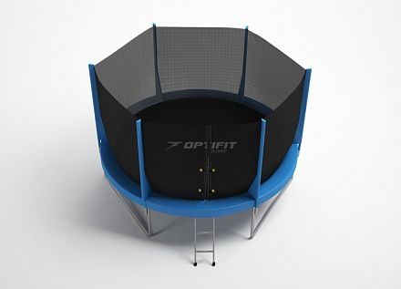 Батут Optifit Jump 14FT (синий, зеленый)