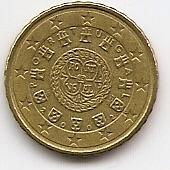 10 евроцентов Португалия 2002 из обращения
