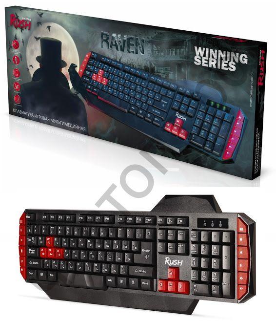 Клавиатура провод. Smartbuy RUSH Raven 200 USB черная (SBK-200GU-K) игровая мультимед.