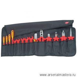 Планшет для инструмента мягкий 15 предметов с инструментами электроизолированными KNIPEX 98 99 13