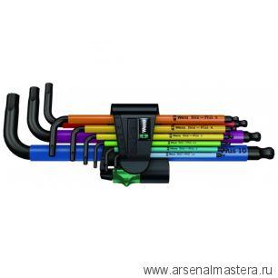 Набор Г-образных ключей для винтов с внутренним шестигранником, метрических, BlackLaser WERA 950 SPKL/9 SM N Multicolour
