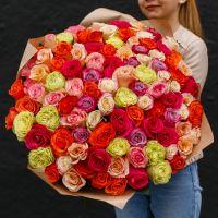 101 роза эквадор 40 см.