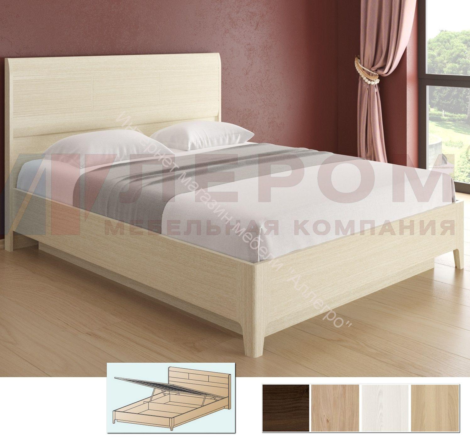 Кровать КР-1864 (1,8х2,0) с П/Мех и жестким изголовьем Мелисса