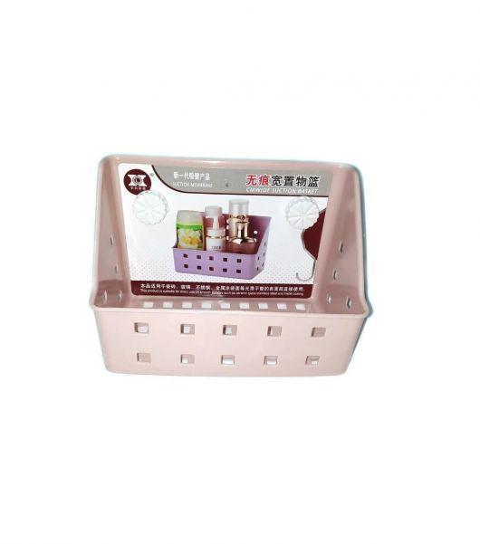 Полка для ванных принадлежностей на вакуумных присосках, 20х12х14 см