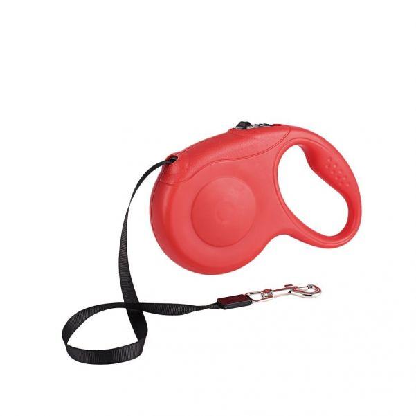 Рулетка - поводок для собак с механическим блокиратором длины Retractable Dog Leash, 3 м