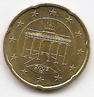 20 евроцентов Германия 2003 регулярная Двор G из обращения