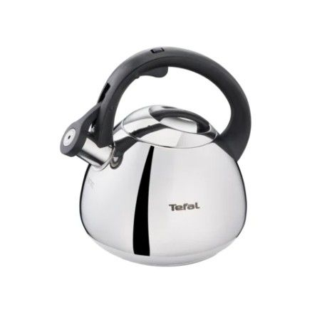 Tefal Чайник со свистком K2481574 2.7 л, серебристый/черный