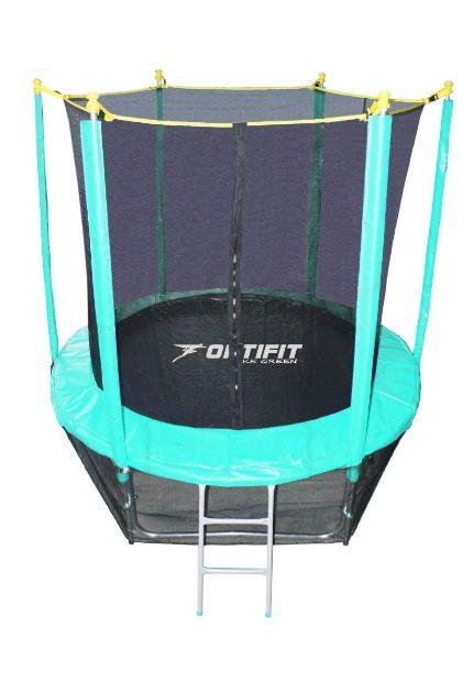 Батут Optifit Like 8FT (синий, зеленый)