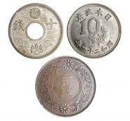 ЯПОНИЯ - набор из 3х старинных монет