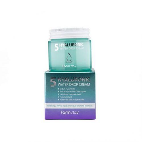 772559 FarmStay Крем для лица суперувлажняющий с гиалуроновым комплексом Hyaluronic 5 Water Drop Cream
