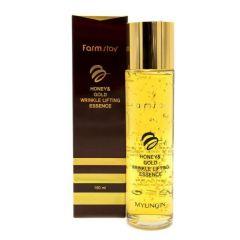 954957 FarmStay Сыворотка с лифтинг-эффектом с экстрактом мёда и золотом Honey & Gold Wrinkle Lifting Essence