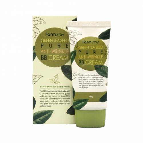 286365 FarmStay Омолаживающий ВВ-крем с семенами зеленого чая Green Tea Seed Pure Anti-Wrinkle BB Cream
