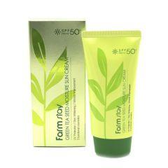 957651 FarmStay Солнцезащитный увлажняющий крем с семенами зеленого чая SPF 50/PA+++ Green Tea Seed Moisture Sun Cream SPF 50/PA+++