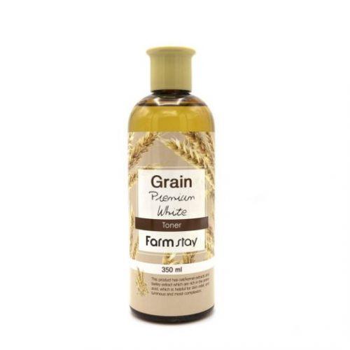 958917 FarmStay Выравнивающий тонер с экстрактом ростков пшеницы Grain Premium White Toner