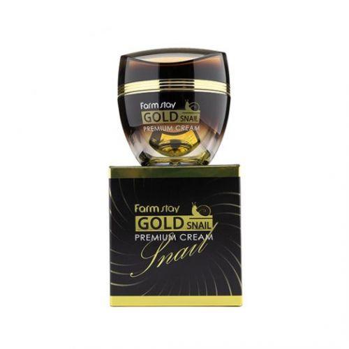 770975 FarmStay Премиальный крем с золотом и муцином улитки Gold Snail Premium Cream